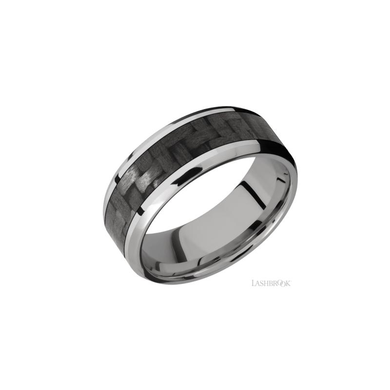 Lashbrook Titanium & Carbon Fiber Men's Wedding Band