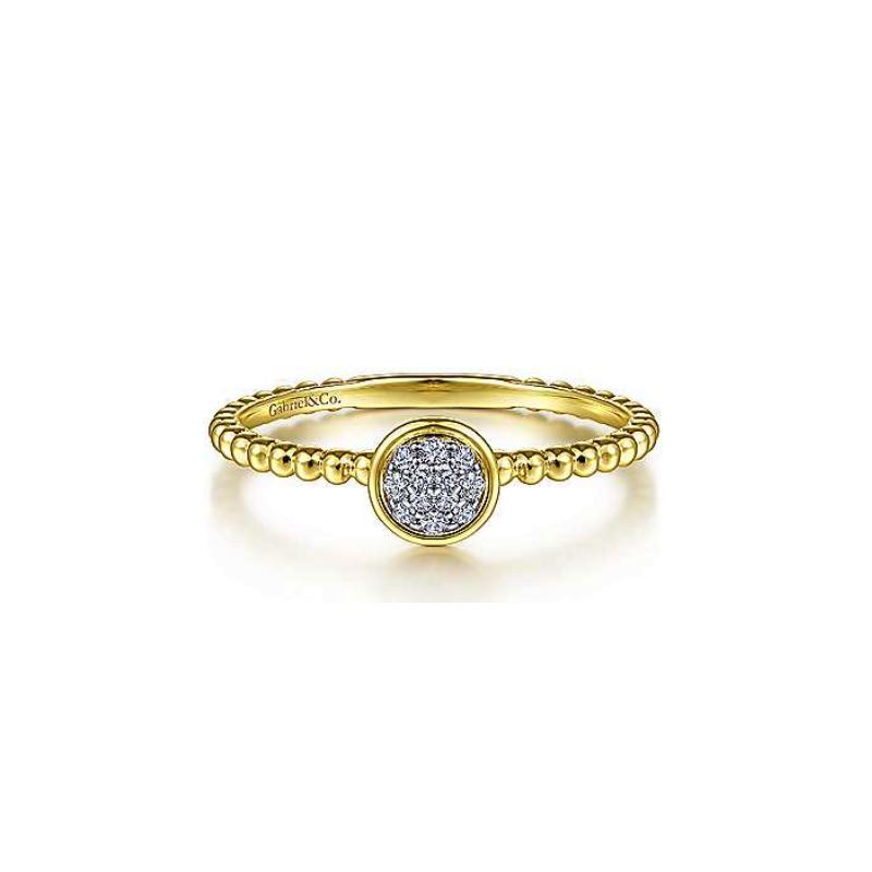 Gabriel Fashion 14K Yellow Gold And Diamond Fashion Ring