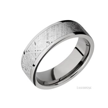 Titanium & Meteorite Men's Wedding Band