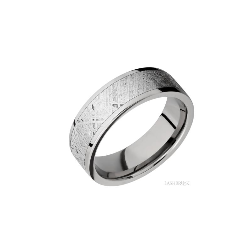 Lashbrook Titanium & Meteorite Men's Wedding Band
