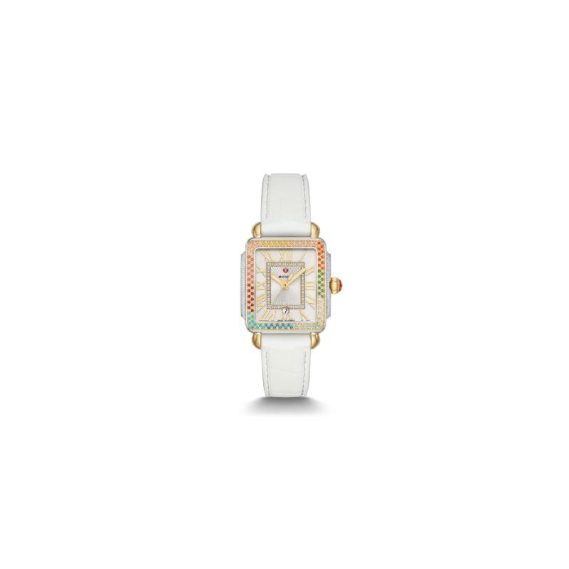 MICHELE Deco Madison Mid Carousel Two-Tone Diamond Watch
