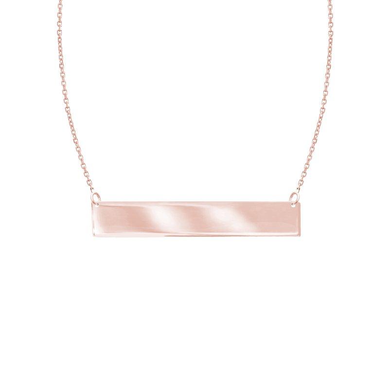 "Midas 18"" Mini Name Plate Necklace"