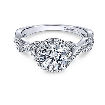 Marissa 14K White Gold Round Diamond Engagement Ring