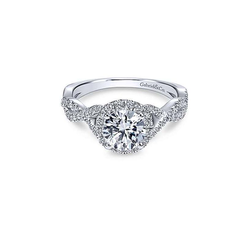 Gabriel Marissa 14K White Gold Round Diamond Engagement Ring