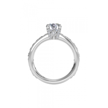 14K White Gold Diamond Engagement Ring 1R3614