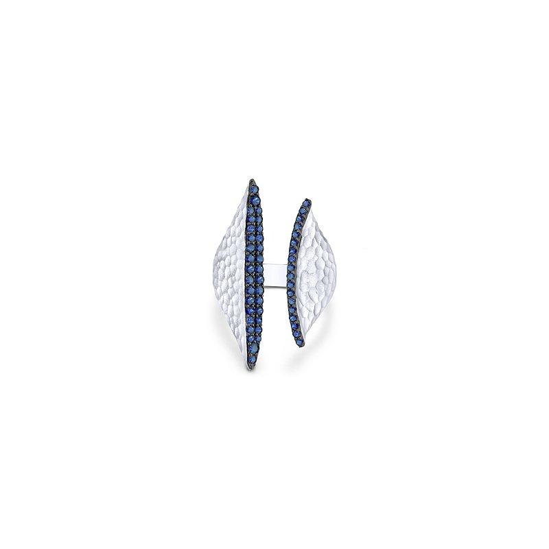 Gabriel Sterling Silver Blue Sapphire Fashion Ring LR51009SVJSB