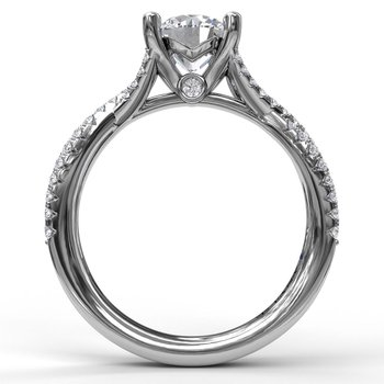 14K White Gold Diamond Engagement Ring S2479
