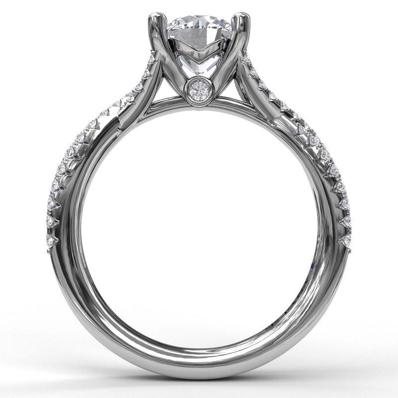 Fana 14K White Gold Diamond Engagement Ring S2479