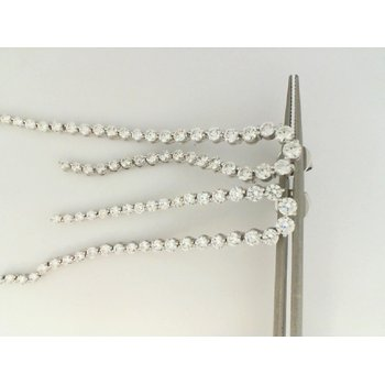 18K White Gold Forevermark Diamond Drop Earrings