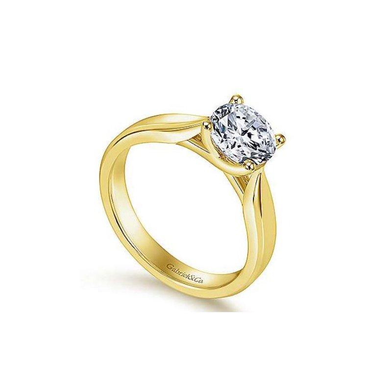 Gabriel Jamie 14K Yellow Gold Round Diamond Engagement Ring