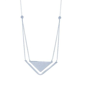 Sterling Silver Stability and Balance Necklace