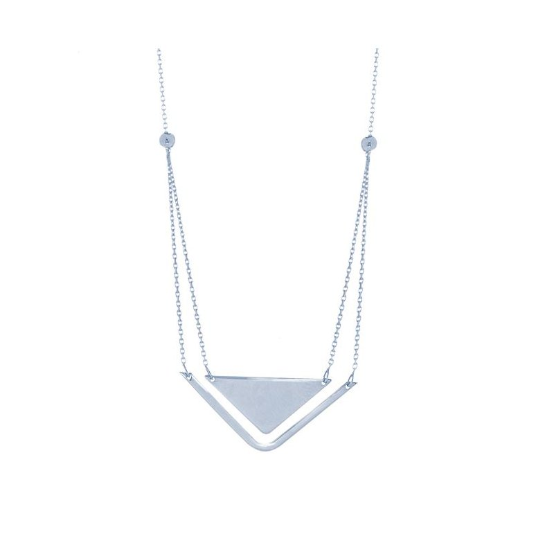 Midas Sterling Silver Stability and Balance Necklace