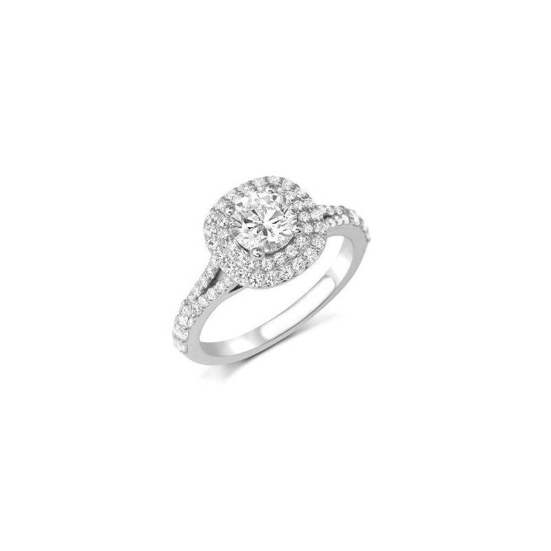 Fana 14K White Gold Diamond Engagement Ring S2369