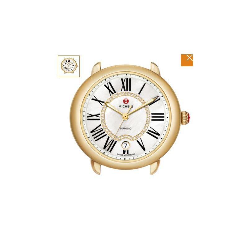 MICHELE Serein Mid Two-Tone, Diamond Dial Timepiece