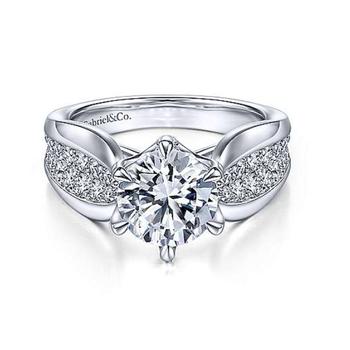 14K White Gold Ember Engagement Ring.