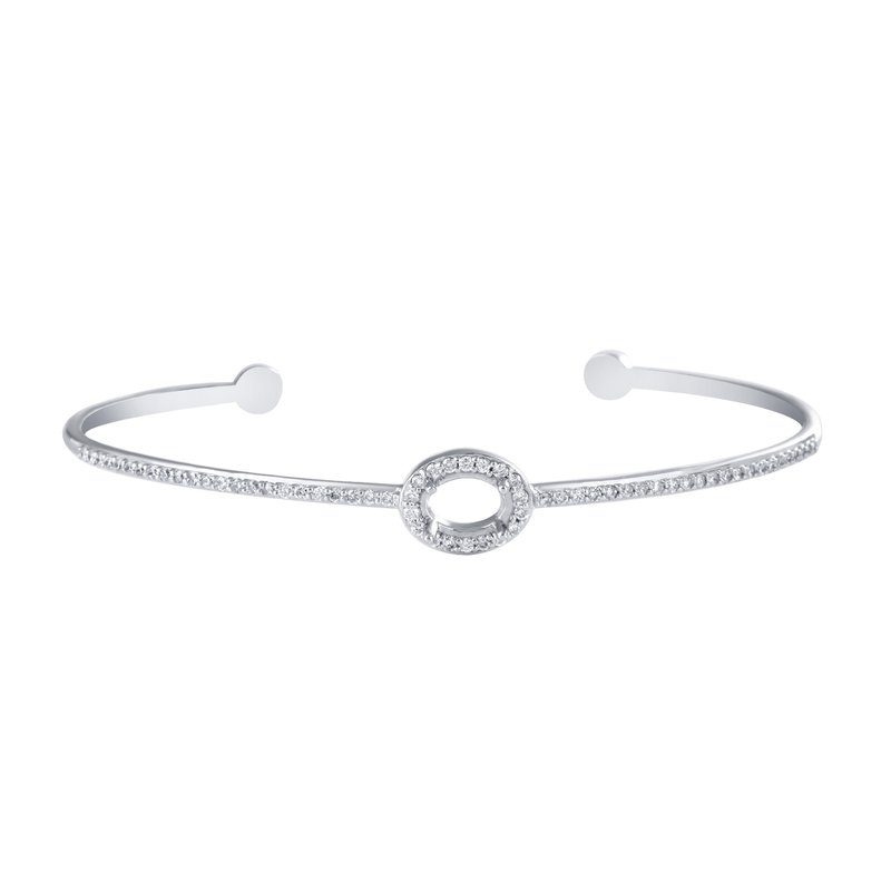 Collage Collection Oval Halo Bangle Bracelet