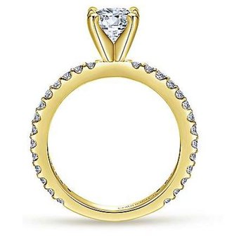 Logan 14K Two-Tone White and Yellow Gold Engagement Ring