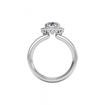 14K White Gold Diamond Engagement Ring 1R1698