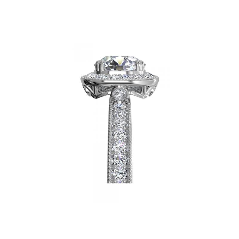 Ritani 14K White Gold Diamond Engagement Ring 1R1698