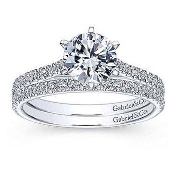 Casey 14K White Gold Round Diamond Engagement Ring