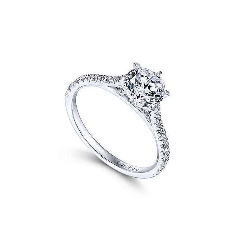 Gabriel Casey 14K White Gold Round Diamond Engagement Ring
