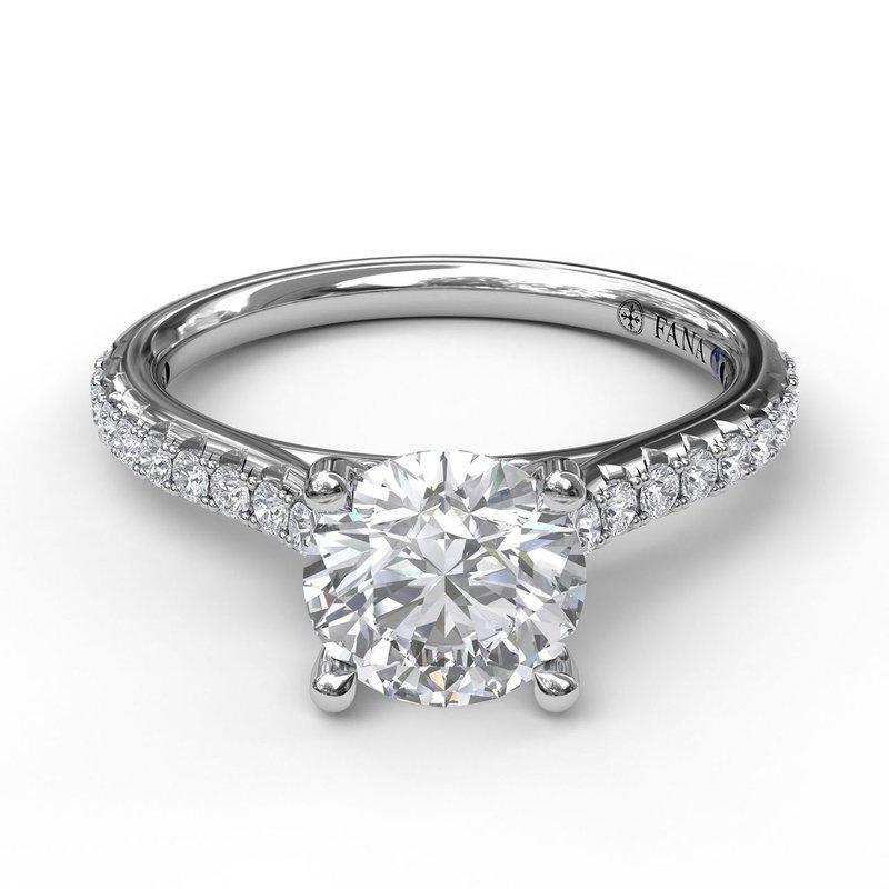 Fana 14K White Gold Diamond Engagement Ring S2818