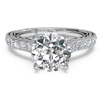 14K White Gold Diamond Engagement Ring 1R2830