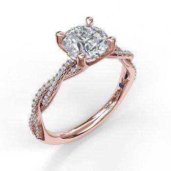 14K Rose Gold Diamond Engagement Ring S2902