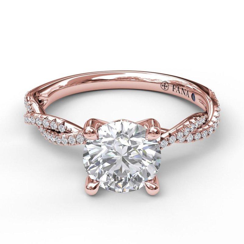 Fana 14K Rose Gold Diamond Engagement Ring S2902