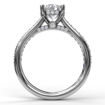 14K White Gold Diamond Engagement Ring S2528