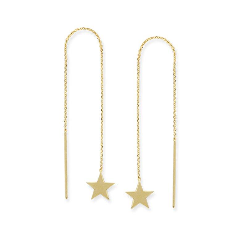 Midas 14K Yellow Gold Flat Star Threader Earring