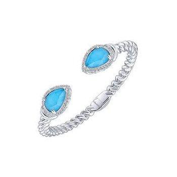 925 & Turquoise Cuff Bracelet