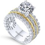Gabriel Lilith 14K Yellow Gold Round Diamond Engagement Ring
