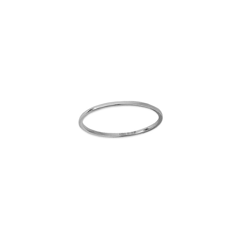 Midas 14K White Gold Wire Stackable Ring