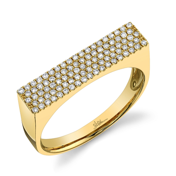 14k Yellow Gold Diamond Pave Lady's Ring