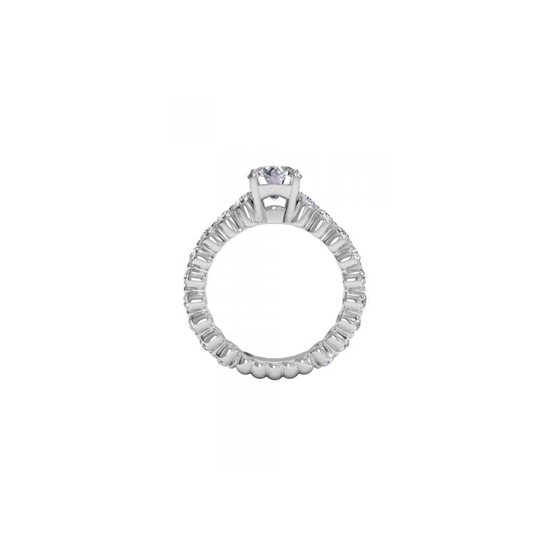 Ritani 14K White Gold Diamond Engagement Ring 1R1888