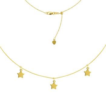 "16"" Adjustable Star Choker Necklace"