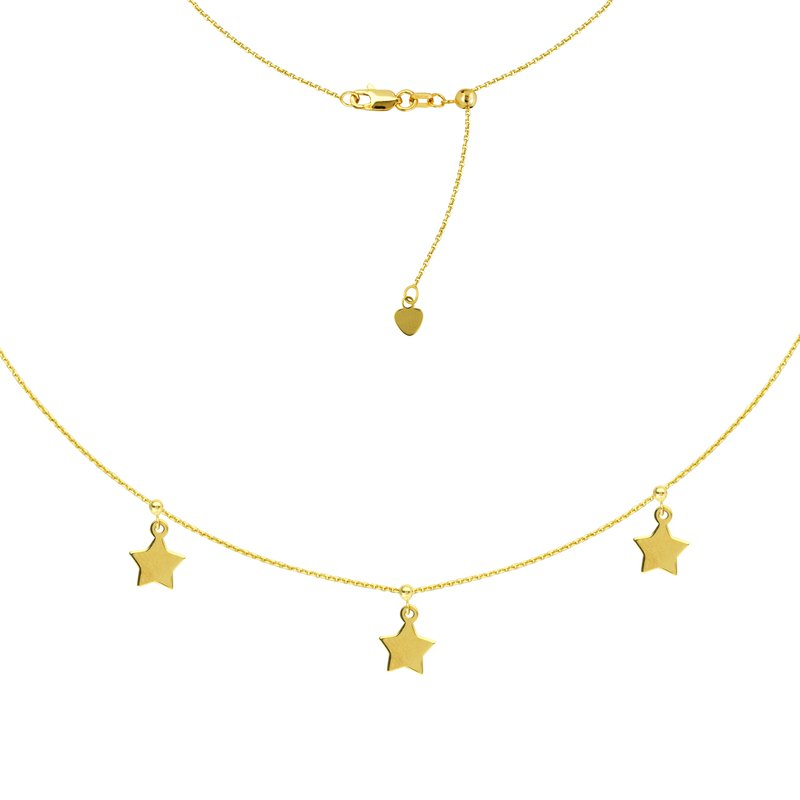 "Midas 16"" Adjustable Star Choker Necklace"