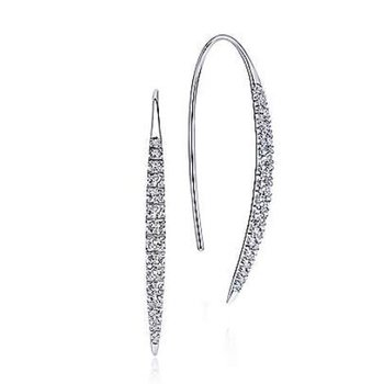 White Gold and Diamond Slim earring.