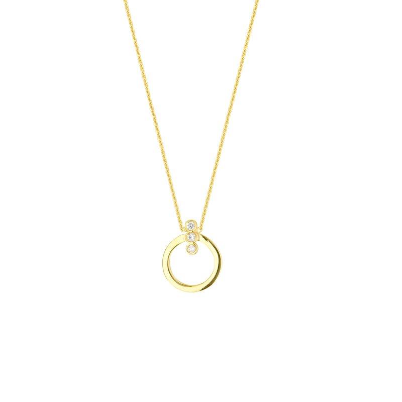 "Midas 18"" 14K Yellow Gold Diamond Circle Necklace"
