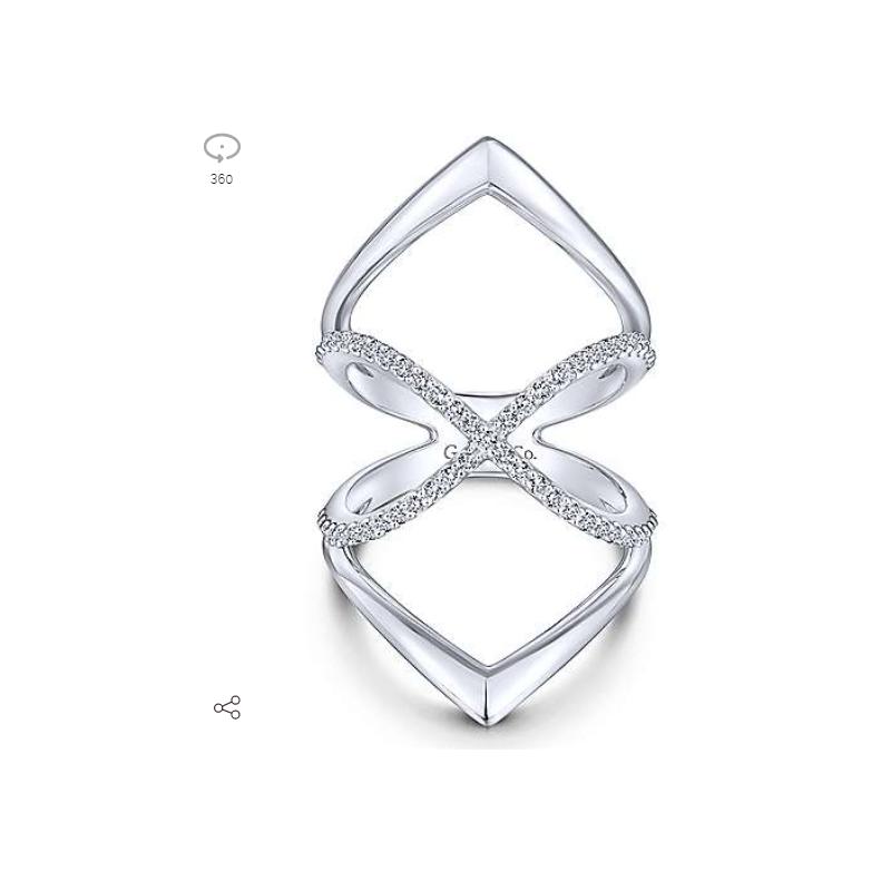 Gabriel Sterling Silver White Sapphire Ring LR51413SVJWS