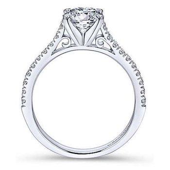 Joanna 14K White Gold Round Diamond Engagement Ring