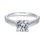 Gabriel Joanna 14K White Gold Round Diamond Engagement Ring