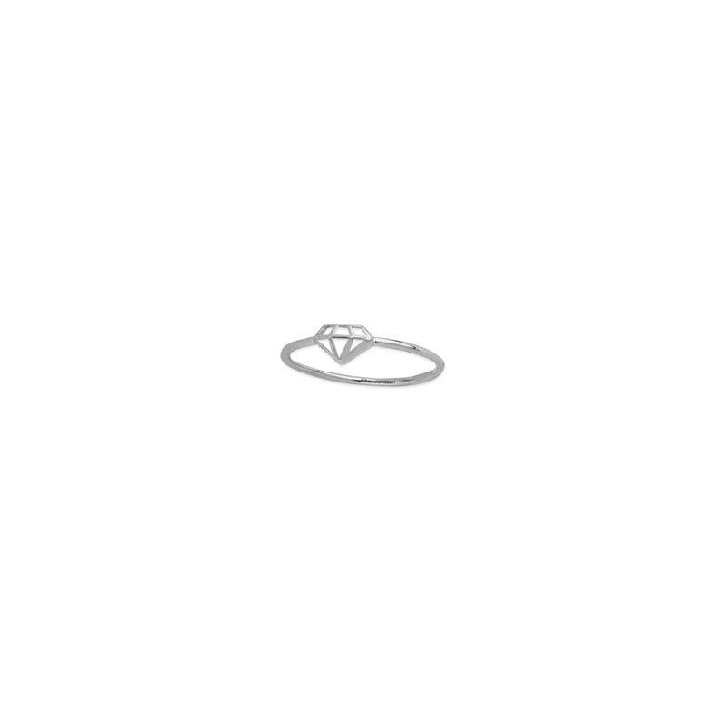Midas 14K White Gold Diamond Cut Out Ring