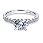 Gabriel Krista 14K White Gold Round Diamond Engagement Ring