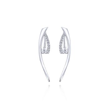 Silver and White Sapphire fashion earrings