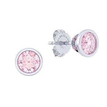 Pink Zircon stud earrings