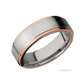 14K Rose Gold & Cobalt Chrome Men's Wedding Band
