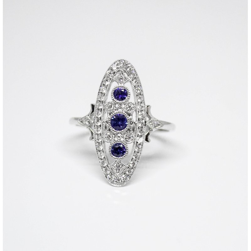 Collage Collection Vintage Sapphire Ring