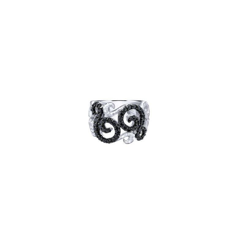 Gabriel Sterling Silver Black Spinel Fashion Ring LR50562SVJBS